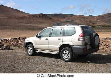 All terrain vehicle - Generic SUV or all terrain car in...
