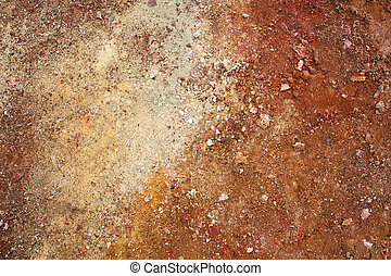 Volcanic soil - Rhyolite red soil in active volcanic area -...