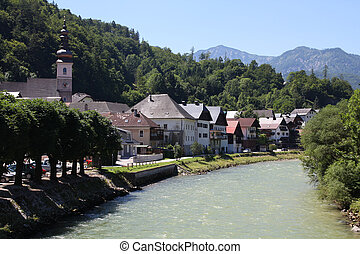 Austria - Upper Austria - Lauffen, part of municipality Bad...