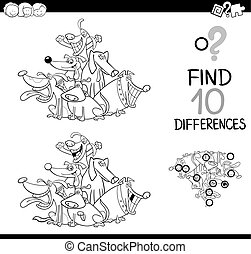 educational game for coloring - Black and White Cartoon...