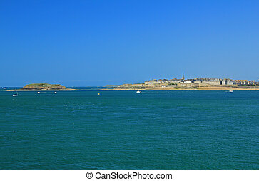 Saint-Malo, Brittany, France - View on Saint-Malo from...