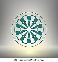 Dart board symbol icon