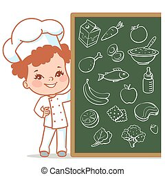little girl as chef
