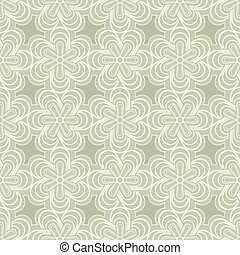 Abstract green spring flower buds vector pattern.
