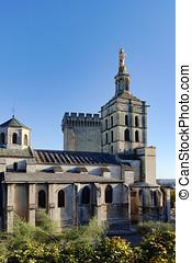 Palais des Papes in Avignon, a UNESCO heritage site, France