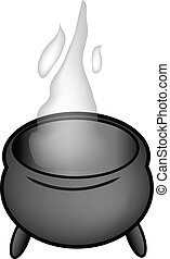 cartoon pot - nice gray cartoon pot isolated over white...