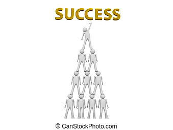 Pyramid of success - Crowds collection