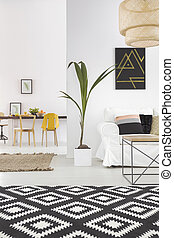 White home interior with carpet - White home interior with...
