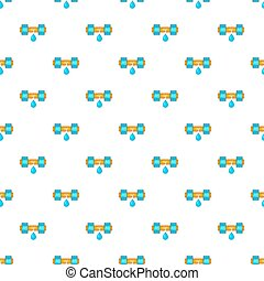 Dripping water pipe pattern, cartoon style