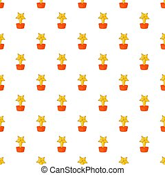 Gold cup star pattern, cartoon style