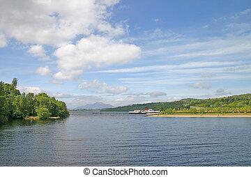 Pleasure Boat on Loch Lomond Scotland UK