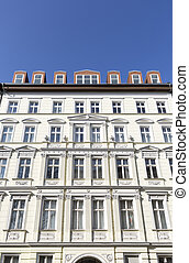 facade of old houses in Berlin Kreuzberg