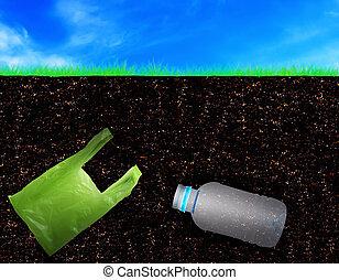 Soil Pollution Concept