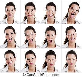 expressões,  diferent
