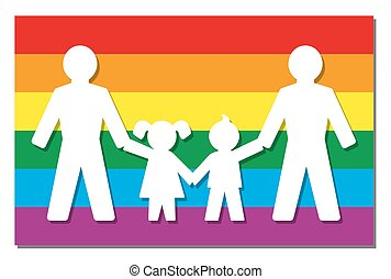 LGBT Parents Pride Flag Icon - LGBT parents - two dads with...