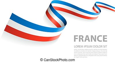 Vector Banner with French Flag colors - Vector Illustration...