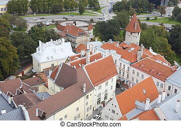 Ausblick von der Olaikirche oder Oleviste Kirik auf die...