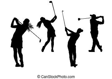 silhouettes golfers collection