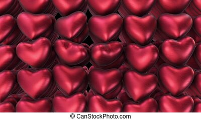 Background of the plurality of air red hearts