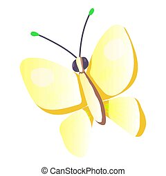 Butterfly icon, cartoon style - Butterfly icon. Cartoon...