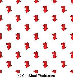 Down arrow pattern, cartoon style - Down arrow pattern....