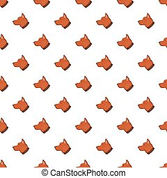 Dog pattern, cartoon style - Dog pattern. Cartoon...