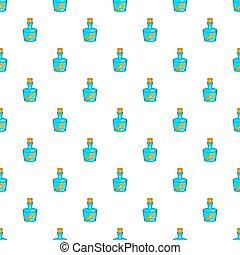 Message in bottle pattern, cartoon style - Message in bottle...