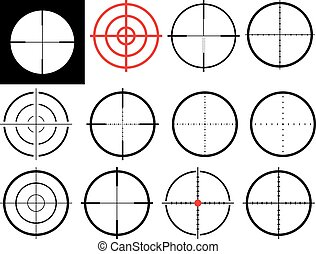 Podstawowe RGB - set of isolated crosshairs