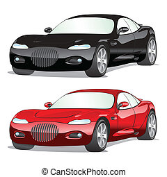 isolated cars with details