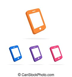 Phone logo set different color