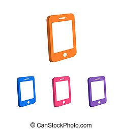 Phone logo template set different color