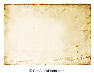 Vintage paper sheet isolated on white.