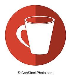 americano coffee cup cream-circle icon shadow vector...