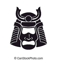 japanese samurai mask warrior vector illustration eps 10