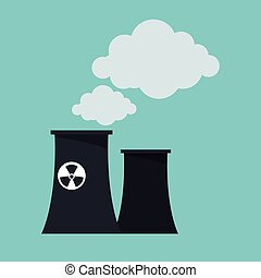nuclear power plant tower design vector illustration eps 10