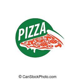 pizza vector logo - Pizza template design logo. Vector...