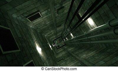 Elevator shaft lift shaft bunker vault safe nuclear...
