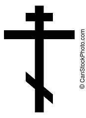 Religious sign. Christianity. Orthodox cross. Vector Format.