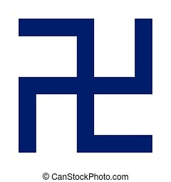 Religious sign. Buddhism. Swastika. Vector Format.