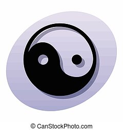 Religious sign. Chinese religions. Yin Yang symbol of balance and harmony. Vector Format.
