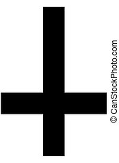 Religious sign. Christianity. St. Peters Cross. Vector...