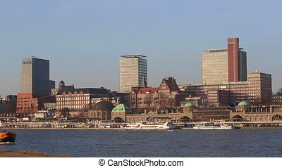 Panorama view of Hamburg Hafencity