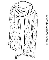 Isolated coat outline