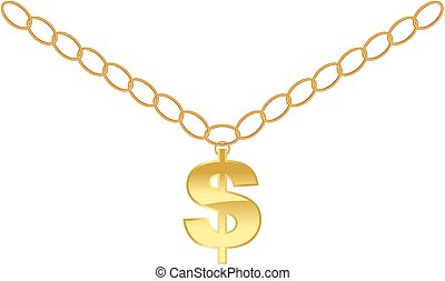 dollar necklace