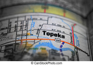Map View For Travel to Locations Topeka - Travel to...