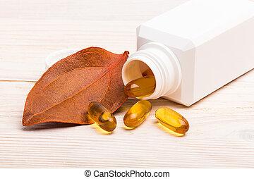 Gel medicine with orange leaf