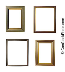 wooden frame art decoration gallery - close up wooden frame...