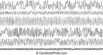 set seismic waves oscillation earthquake - set of seismic...