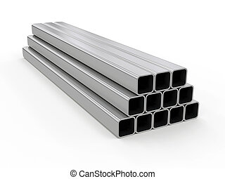 profile pipe, 3d rendering - 3D visualization of profile...
