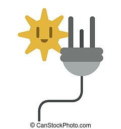 electric cable plug energy icon